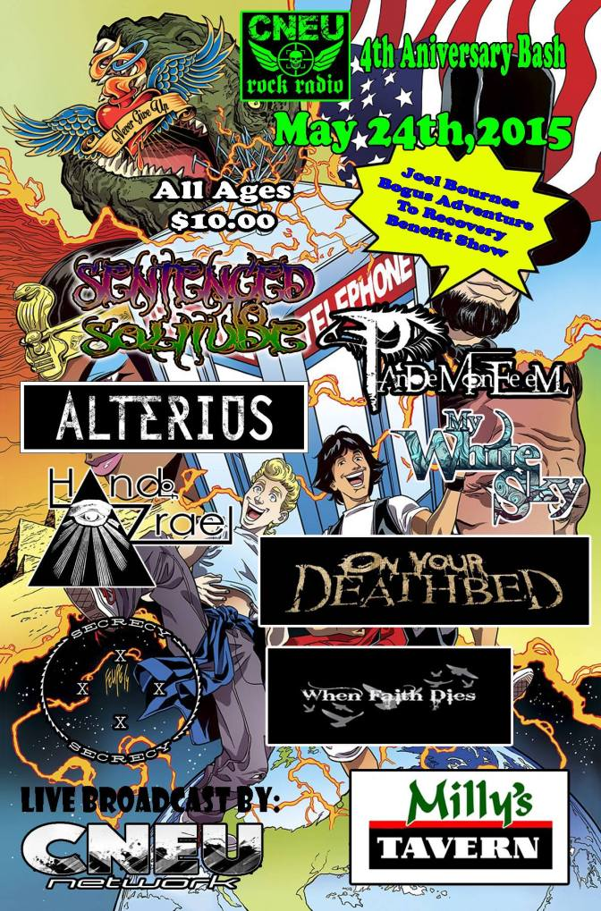 Never give up promotions presents the Joel Bournes benefit show! Today!!!  @alteriusmetal